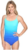 Speedo Ombre Shirred One Piece Women's Swimsuits One Piece