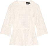 Needle & Thread Crocheted cotton peplum top