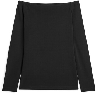 Arket Off-Shoulder Jersey Top