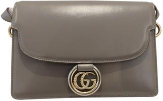 Gucci GG Ring Grey Leather Handbags