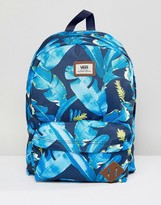 Vans Old Skool Printed Backpack In Leaf Print V00oninkb