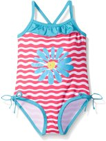 Pink Platinum Platinum Little Girls Daisy One Piece Swimsuit