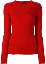 Joseph ribbed v neck jumper
