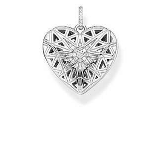 Thomas Sabo Women Pendant Heart Medallion Star Silver 925 Sterling Silver, 18k Rose Gold Plating PE860-416-14