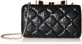 La Regale Mesh Quilted Minaudiere Clutch