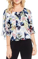 Vince Camuto Garden Expressions Floral Print Blouse