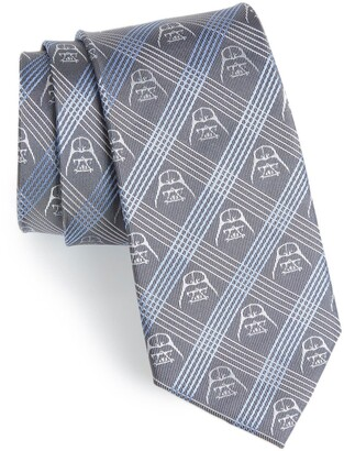 Cufflinks Inc. 'Darth Vader' Plaid Silk Tie