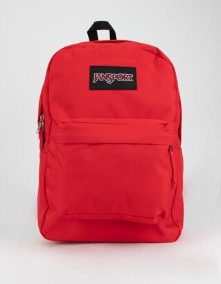 JanSport SuperBreak Bright Cherry Backpack