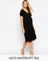 Asos TALL Midi Dress with Flutter Sleeve
