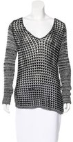 Helmut Lang Open Knit Round Neck Sweater
