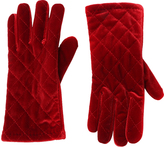 Cejon Red Quilted Velvet Glove