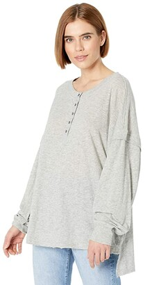 FP Movement One Up Long Sleeve (Heather Grey) Women's Clothing