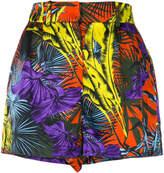 Versace palm print shorts