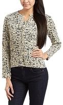 Beige & Black Floral Wool-Blend Cardigan