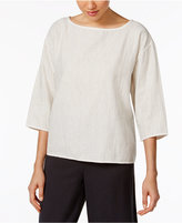 Eileen Fisher Organic Cotton Boxy Top