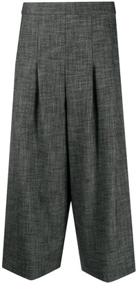 Semi-Couture High-Waisted Cropped Trousers