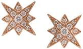 Marchesa 18kt rose gold star diamond studs
