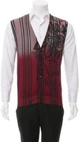 Etro Patterned Rib Knit-Trimmed Vest