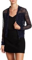 T Tahari Fatima Floral Applique Lace Jacket