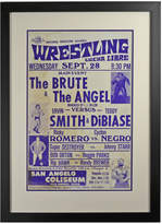 Rejuvenation Framed Lucha Libre Wrestling Poster Brute v Angel