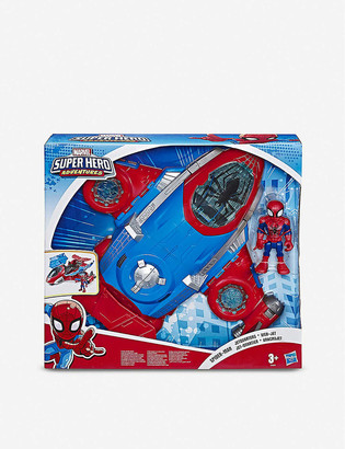 Spiderman Disney Marvel Super Hero Adventures Jetquarters action figure and vehicle set