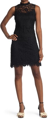 Bebe Chemical Floral Lace Dress