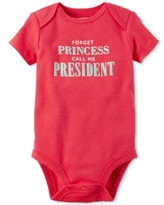 Carter's Forget Princess Call Me President Bodysuit, Baby Girls (0-24 months)