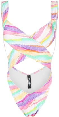 Reina Olga Exotica criss-cross swimsuit