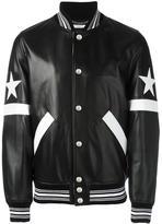Givenchy star and stripe appliqué jacket - men - Cotton/Lamb Skin/Polyamide/Cupro - 46