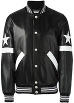 Givenchy star and stripe appliqué jacket - men - Cotton/Lamb Skin/Polyamide/Cupro - 48
