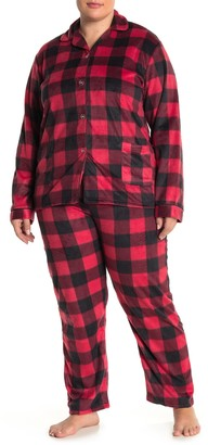 Youmita Fleece Pajama 2-Piece Set (Plus Size)