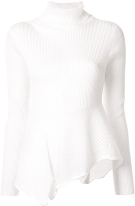 Shanshan Ruan Ribbed Asymmetric Top