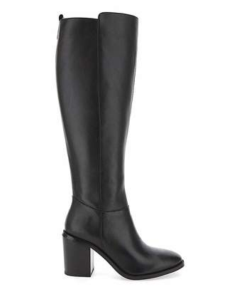 Simply Be Michelle Leather Ex Wide Fit Stan Calf