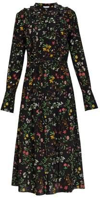 Altuzarra League Floral Print Silk Dress - Womens - Black Print