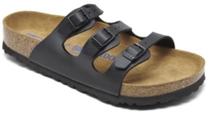 Birkenstock Women's Florida Birko-Flor Nubuck Soft Footbed Sandals from Finish Line