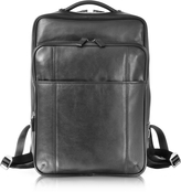 Giorgio Fedon British Black Leather Backpack