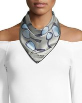 Anna Coroneo Mini Square Silk Twill Magnifying Glass Scarf