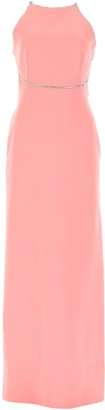 Miu Miu Embellished Criss Cross Maxi Dress