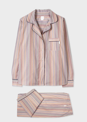Paul Smith Women's Signature Stripe Cotton Pyjama Set