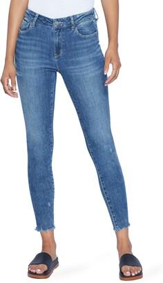 WASH LAB Faye Raw Hem Ankle Skinny Jeans