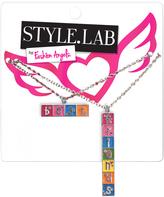 Fashion Angels Pink & Silvertone Crossword 'Best Friends' Necklace Set