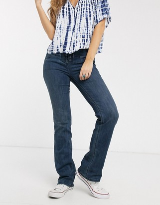 Free People eva lace up bootcut jeans