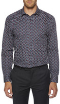 Ben Sherman Ditsy Floral Printed Formal Super Slim (Camden) Shirt