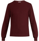 Brioni Zigzag Waffle-knit Cotton Sweater