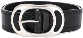 DSQUARED2 Embossed Logo Textured Belt