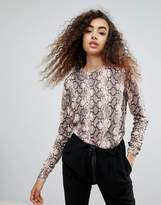 Warehouse Snake Print Sweater