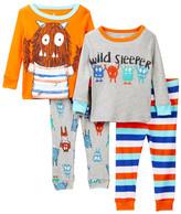 Candlesticks Wild Sleeper Monster Cotton Pajamas - Set of 2 (Baby Boys)