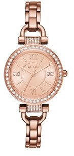 Relics by Fossil Women's Leah Rose Gold Watch