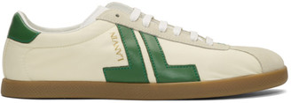 Lanvin Off-White and Green JL Sneakers