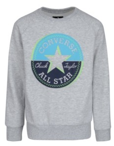 Converse Big Boys Block This Way Chuck Patch Logo Sweatshirt